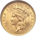 Three Dollar Gold Pieces, 1854 $3 MS65 NGC. CAC....