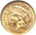 Three Dollar Gold Pieces, 1874 $3 MS65 ★ NGC. CAC....