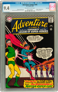 Adventure Comics #345 Twin Cities pedigree (DC, 1966) CGC NM 9.4 Off-white to white pages