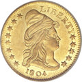 Early Quarter Eagles, 1804 $2 1/2 14 Star Reverse MS61 PCGS. CAC. Breen-6119, BD-2, R.4....