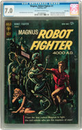Silver Age (1956-1969):Science Fiction, Magnus Robot Fighter #1 Twin Cities pedigree (Gold Key, 1963) CGC FN/VF 7.0 Off-white to white pages....