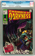 Silver Age (1956-1969):Horror, Chamber of Darkness #1 Twin Cities pedigree (Marvel, 1969) CGC NM- 9.2 White pages....