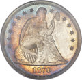 Proof Seated Dollars, 1870 $1 PR66 NGC. CAC....