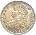 Bust Half Dollars, 1834 50C Large Date, Small Letters MS65 PCGS. CAC. O-106, R.1....