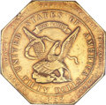 Territorial Gold, 1852 $50 Assay Office Fifty Dollar, 900 Thous. AU55 NGC. K-14, High R.5. ...
