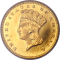 Proof Gold Dollars, 1858 G$1 PR65 Deep Cameo PCGS. CAC....
