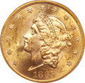 Liberty Double Eagles, 1865 $20 MS62+ PCGS. CAC....