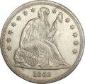 Seated Dollars, 1842 $1 MS64 PCGS....