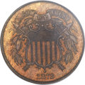 Two Cent Pieces, 1872 2C MS64+ Red and Brown PCGS. CAC....