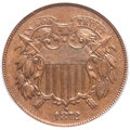 Two Cent Pieces, 1872 2C MS63 Brown PCGS....