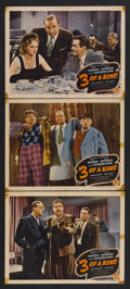 "Movie Posters:Comedy, 3 of a Kind (Monogram, 1944). Lobby Cards (3) (11"" X 14""). Comedy. Starring Billy Gilbert, Shemp Howard, 'Slapsie Maxie' Ros... (Total: 3 Items)"