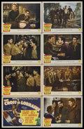 "Movie Posters:War, The Cross of Lorraine (Metro Goldwyn Mayer, 1943). Lobby Card Setof 8 (11"" X 14""). War. Starring Jean Pierre Aumont, Gene K...(Total: 8 Items)"