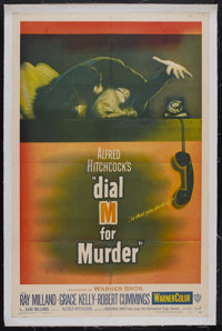 "Dial M For Murder (Warner Brothers, 1954). One Sheet (27"" X 41""). Thriller. Starring Ray Milland, Grace Kelly..."