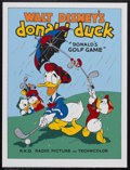 "Movie Posters:Animated, Donald's Golf Game (RKO, 1938). Fine Art Seriagraph circa 1980s(22.5"" X 30.5""). Animated Comedy. Starring the voice of Clar..."