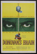 "Movie Posters:Science Fiction, Donovan's Brain (United Artists, 1953). One Sheet (27"" X 41"").Horror. Starring Lew Ayres, Gene Evans, Nancy Davis and Steve..."