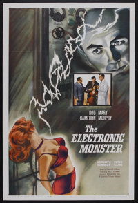 """The Electronic Monster (Columbia, 1958). One Sheet (27"""" X 41""""). Science Fiction. Starring Rod Cameron, Mary Mu..."""