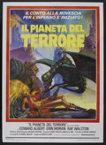 "Movie Posters:Science Fiction, Galaxy of Terror (New World Pictures, 1981). Italian 2 - Folio (39""X 55""). Sci-Fi Horror. Starring Edward Albert, Erin Mora... (Total:2 Item)"
