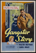 "Movie Posters:Crime, Gangster Story (Releasing Corporation of Independent Producers, 1960). One Sheet (27"" X 41""). Crime. Starring Walter Matthau..."