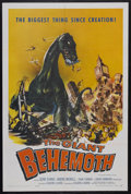 "Movie Posters:Science Fiction, The Giant Behemoth (Allied Artists, 1959). One Sheet (27"" X 41"").Sci-Fi Horror. Starring Gene Evans, Andre Morell, John Tur..."