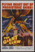 "Movie Posters:Science Fiction, The Giant Claw (Columbia, 1957). One Sheet (27"" X 41""). ScienceFiction. Starring Jeff Morrow, Mara Corday, Morris Ankrum, E..."