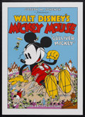 "Movie Posters:Animated, Gulliver Mickey (United Artists, 1934). Fine Art Seriagraph circa1980s (21.5"" X 31""). Animated Comedy. Starring the voice o..."