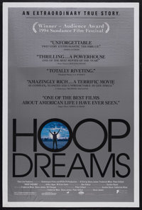"""Hoop Dreams (Fine Line Features, 1994). One Sheet (27"""" X 41""""). Documentary. Starring William Gates, Arthur Age..."""