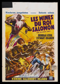 "Movie Posters:Adventure, King Solomon's Mines Lot (MGM, 1950). Belgian Posters (2) (14"" X22""). Adventure.... (Total: 2 Items)"