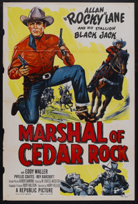 "Marshal of Cedar Rock (Republic, 1952). One Sheet (27"" X 41""). Western. Starring Allan ""Rocky"" Lane..."