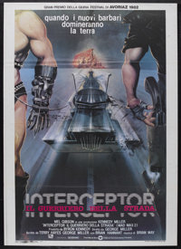 """The Road Warrior (Warner Brothers, 1982). Italian 2 - Folio (39"""" X 55""""). Action. Starring Mel Gibson, Bruce Sp..."""