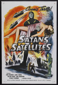 "Movie Posters:Science Fiction, Satan's Satellites (Republic, 1958). One Sheet (27"" X 41""). Featureversion of the 1952 serial ""Zombies of the Stratosphere""..."