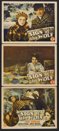 "Movie Posters:Adventure, Sign of the Wolf (Monogram, 1941). Title Lobby Card (11"" X 14"") andLobby Cards (2) (11"" X 14""). Adventure. Starring Michael... (Total:3 Items)"