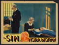 "Movie Posters:Crime, The Sin of Nora Moran (Majestic Pictures, 1933). Lobby Card (11"" X14""). Crime Drama. Starring Zita Johann, Alan Dinehart, P..."