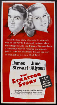 "The Stratton Story (MGM, R-1956). Three Sheet (41"" X 81""). Sports Drama. Starring James Stewart, June Allyson..."