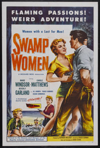 "Swamp Women (Woolner Brothers, 1955). One Sheet (27"" X 41""). Crime. Starring Marie Windsor, Carole Mathews, Be..."