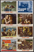 """Movie Posters:Adventure, Trader Horn (MGM, R-1953). Title Lobby Card (11"""" X 14"""") and LobbyCards (6) (11"""" X 14""""). Adventure. Starring Harry Carey, Ed...(Total: 8 Items)"""