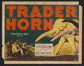 "Movie Posters:Adventure, Trader Horn (MGM, 1931). Title Lobby Card (11"" X 14""). Adventure.Starring Harry Carey, Edwina Booth, Duncan Renaldo, Mutia ..."
