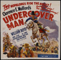 """Movie Posters:Western, Undercover Man (United Artists, 1942). Six Sheet (81"""" X 81""""). Western. Starring William Boyd, Andy Clyde, Jay Kirby, Antonio..."""