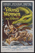 "Movie Posters:Fantasy, Viking Women and the Sea Serpent (AIP, 1957). One Sheet (27"" X 41""). Fantasy. Starring Abby Dalton, Susan Cabot, Brad Jackso..."