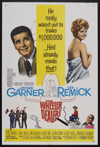 "The Wheeler Dealers (MGM, 1963). One Sheet (27"" X 41""). Comedy. Starring James Garner, Lee Remick, Phil Harris..."