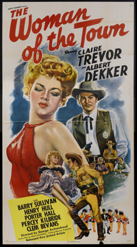 "The Woman of the Town (United Artists, 1943). Three Sheet (41"" X 81""). Western"