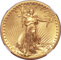 Proof High Relief Double Eagles, 1907 $20 High Relief, Flat Rim -- Reverse Improperly Cleaned -- NGCDetails. Proof....