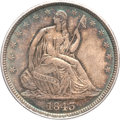 Seated Half Dollars, 1843 50C MS65 PCGS. CAC....