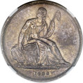 Gobrecht Dollars, 1836 P$1 Name on Base, Judd-60 Restrike, Pollock-65, R.5, PR53NGC....