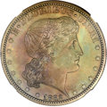 Patterns, 1882 50C Shield Earring Half Dollar, Judd-1701, Pollock-1903, HighR.7, PR64 Brown NGC....