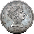 Patterns, 1839 P50C Half Dollar, Judd-97 Restrike, Pollock-107, High R.7,PR64 NGC....