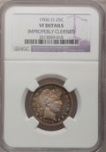 Barber Quarters: , 1906-O 25C --Improperly Cleaned--NGC Details. VF. NGC Census:(1/114). PCGS Population (1/166). Mintage: 2,056,000. Numismed...