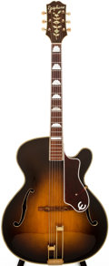 Musical Instruments:Electric Guitars, 1957 Epiphone De Luxe Cutaway Sunburst Archtop Acoustic Guitar,#69144/75149....