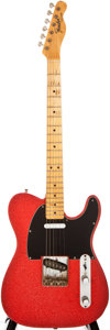 Musical Instruments:Electric Guitars, 1967 Fender Telecaster Red Sparkle Solid Body Electric Guitar,#70899....