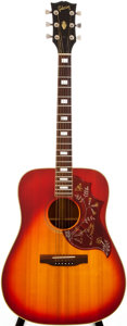 Musical Instruments:Acoustic Guitars, 1976 Gibson Hummingbird Cherry Sunburst Acoustic Guitar, #00164980....