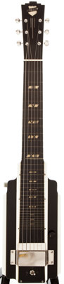 Circa 1940 National New Yorker Black and White Lap Steel Guitar, #C122